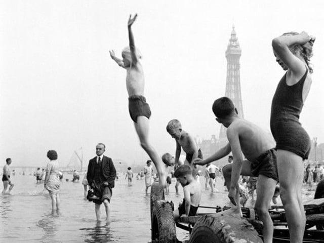 Having fun in Blackpool in yesteryear