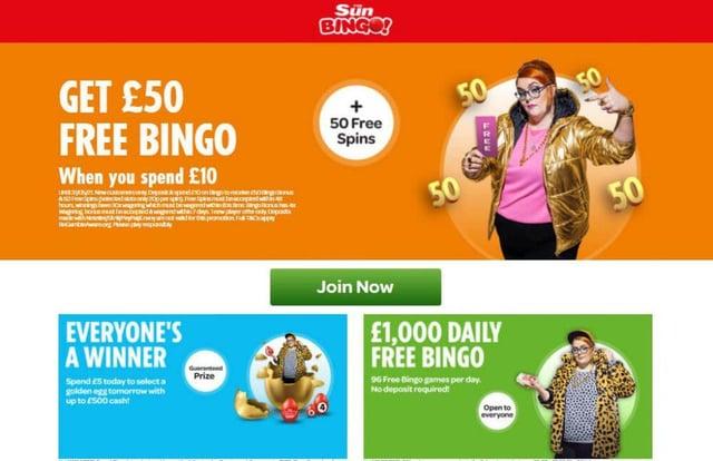 The Sun Bingo was considered the best bingo site overall