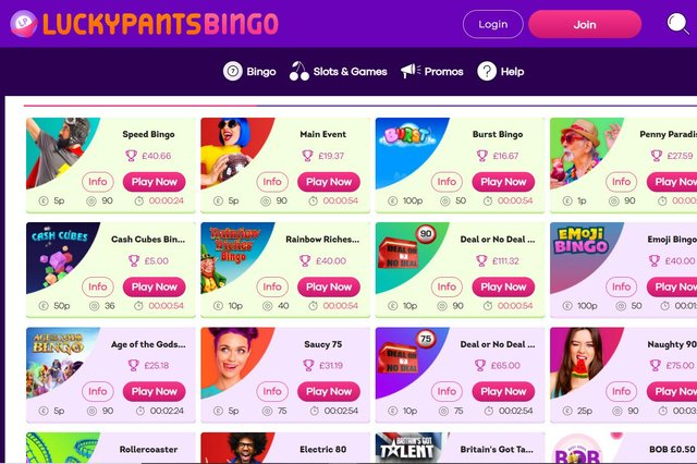 Lucky Pants Bingo was the best site for new player
