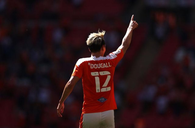 Kenny Dougall of Blackpool. (Photo by Catherine Ivill/Getty Images)